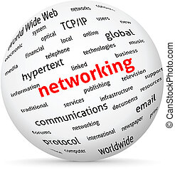 Networking globe. Vector design advertise.