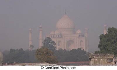 smog and mist in Agra city,India