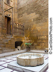 Indoor of Gayer-Andersons house in Cairo Egypt