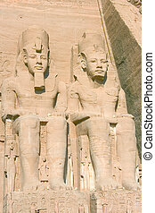 Ramses II in the temple of abu simbel (Egypt)