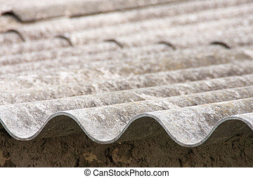 fibre cement - an old roof made of uralita