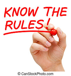 Know The Rules - Hand writing Know The Rules with red marker...