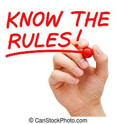 saber, el, reglas
