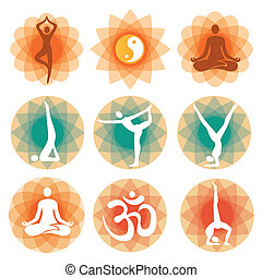 Yoga_positions_backgrounds - Abstract decorative backgrounds...