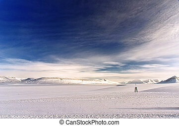 Winter landscape in the Arctic - Winter landscape in the...