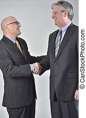 negociación, Concluir, sociedad, corporativo, Hombres de...