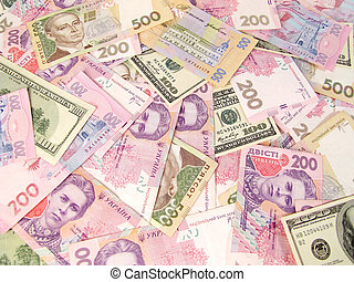 Much money - Background of different banknotes, money, bills