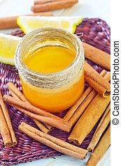 citron, miel, cannelle, et