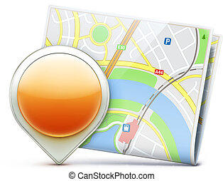 global navigation concept - Vector illustration of global...
