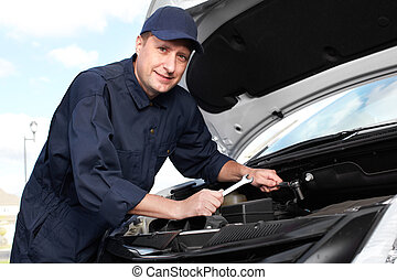 Professional auto mechanic - Car mechanic working in auto...