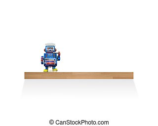 Toy Shelf - A toy shelf isolated against a white wall