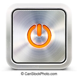power button - Vector illustration of the detailed power...