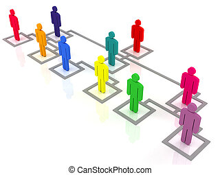 organization chart - colorful group of people standing on...