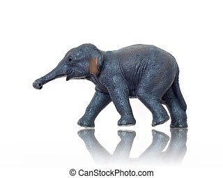 Toy Animals - Toy animals isolated against a white...