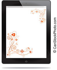 Tablet with floral design