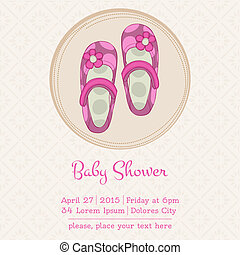 Baby Shower or Arrival Card with Place for your text - in...