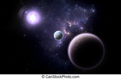 Alternative planetary system. Space - Art