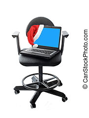 電腦, 聖誕節, 辦公室