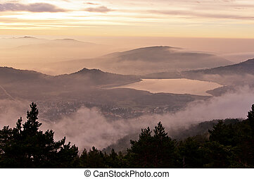 low clouds in the mountain-Horizont - Dawn dress from the...