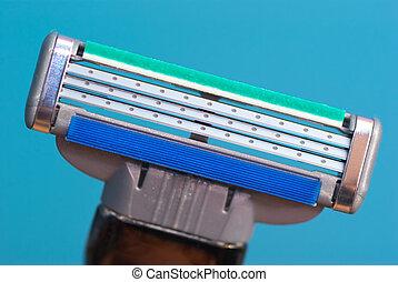 Macro of razor
