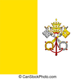 Flag of Vatican - Flag of the State of the City of Vatican...
