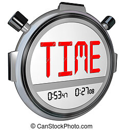 Time Word on Stopwatch Record Your Speed and Acceleration -...
