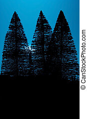 Moon Light Pine Trees