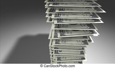 Stack of dollar bills