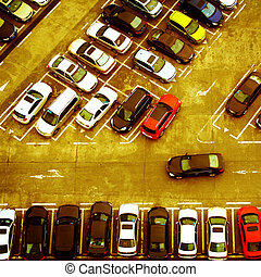 parking - cars in the parking lot