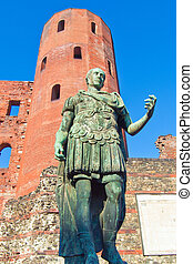 Roman statue of Augustus - Ancient roman statue of emperor...