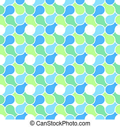 Vector seamless pattern - abstract blue and green pastel color wrapping texture
