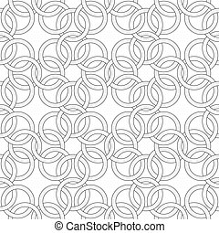Vector seamless pattern - pattern like weaving chainmail -...
