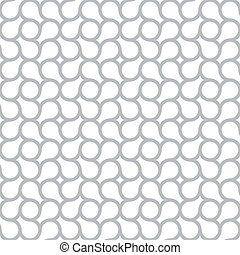 Simple vector seamless pattern - gray abstract background -...