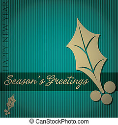 Seasons Greetings - Cut out Seasons Greetings tree card in...