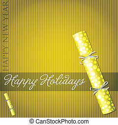 Happy Holidays! - Happy Holidays bubble cracker card in...