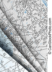 Many aeronautical navigation charts