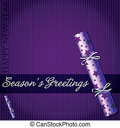 Seasons Greetings - Seasons Greetings star cracker card in...