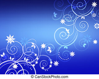 Chistmas floral background on blue