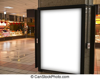 blank billborad - blank billboard in trainstation hall
