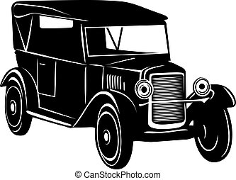 Vintage car of 1920s years for retro design
