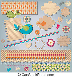 textured design elements - cute colorful textured design...