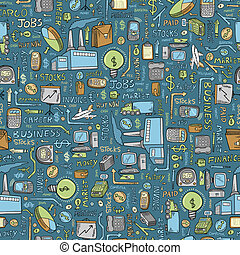 Business Finance Seamless Pattern Vector
