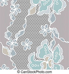 Lace fabric seamless pattern with abstact flowers.