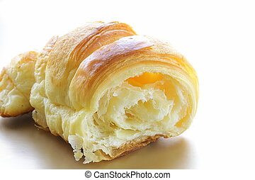 fresh puff croissant - delicious breakfast of fresh puff...