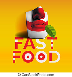 Word fast food background