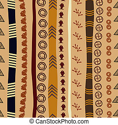 Seamless texture with African motifs