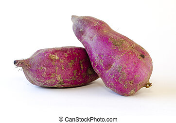 Sweet potato - Kumara - Japanese sweet potato isolated on a...