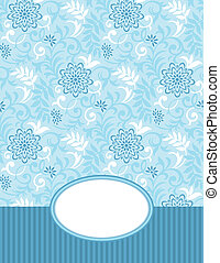 Vector banner and seamless pattern