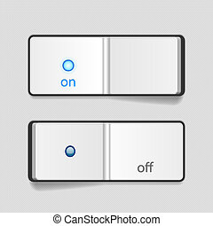 Vector Switch - Vector Realistic OnOff Switch Icon