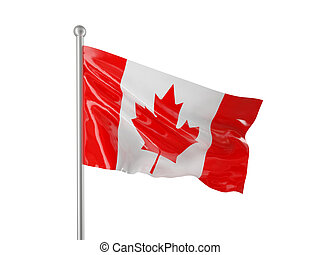 canadian flag - canada flag isolated on white background